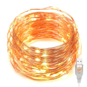 Kohree USB 10m Copper Wire 100 LED Fairy Starry String Lights Decorative Rope Lights For Party Wedding Commercial Light