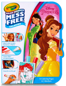 Crayola Colour Wonder Disney Princess Colour on the Go, 15 Colouring Pages, 3 Markers