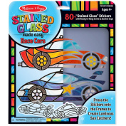 Melissa & Doug Stained Glass Made Easy Race Car Ornaments Craft Kit