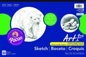"Art1st® Sulphite Sketch Pad, 18"" x 12"", 50 Sheets, Acid Free"