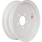 Loadstar Solid Centre Steel Wheel (Rim), White