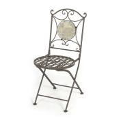 Outdoor Garden Furniture Rio Patio Chair Metal Iron Mosiac Folding