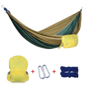 Noza Tec Portable Parachute Nylon Fabric Travel Camping Hammock With Backpack,
