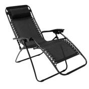 New! Folding Reclining Garden Deck Chair Sun Lounger Zero Gravity