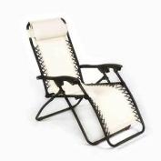 Outdoor Garden Furniture Sun Lounger - Natural Relaxer Recliner Folding Patio