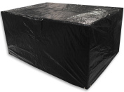 Woodside Black 1.5m Small Rectangle Waterproof Garden Furniture Table Cover