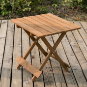 Life Carver Wood Coffee Table Side Table - Folding Garden & Patio Coffee &
