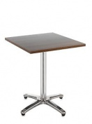 Dams Roma Aluminium Square Walnut Table 70 X 70, Wood