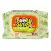 Boogie Wipes Fresh Scent Gentle Saline Wipes for Stuffy Noses, 45 ct