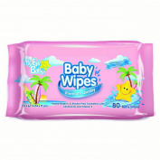 My Fair Baby Premium Baby Wipes, Pink, 80 Ct