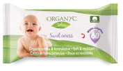 Organyc Sweet Caress Organic Baby Wipes, Resealable Pack, Unscented, 60 Ct