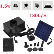 Solar Power Water Feature Fountain Submersible Pump Kit For Garden Pond Pool Uk