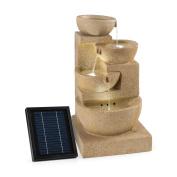 4 Tier Cascade Birdbath Garden Fountain Solar Power Pump Free Standing Deco Home