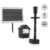 Solar Power Garden Water Fountain 2 Water Effect Pump Patio Decor Led Battery 5w