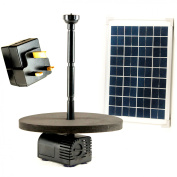 1.7m Solar Fountain Pump Kit With 10w Panel For Garden Pond, Water Feature