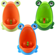 Honana Cute Frog Potty Training Urine Urinal Toilet for Children Kids Toddler Baby Boys Pee Trainer Funny Aiming Target,Sky Blue colour