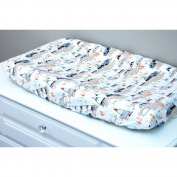 Little Moose by Liza Woodland Oak Changing Pad Cover