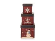 Darice Paper Box Set Square Frosty 3pc