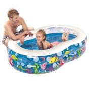 Jilong Figure 8 Pool Large With Fun Sea Animals Fish Bubble Print Childrens Kids