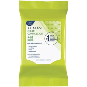 Almay Clear Complexion 4-in-1 Makeup Remover Purifying Towelettes, 25 ct