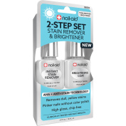 Nail-Aid 2-Step Set Stain Remover & Brightener Nail Treatment, 15ml
