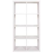 Living & Co Valencia 4 x 2 Cube Storage Shelf White