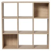 Living & Co Madrid Oak 9 Cube Brown