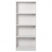 Living & Co Madrid Bookcase 4 Tier White