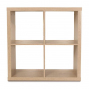 Living & Co Valencia 2 x 2 Cube Storage Shelf Oak