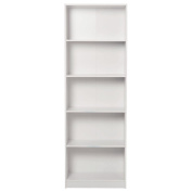 Living & Co Madrid Bookcase 5 Tier White