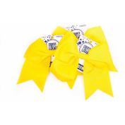 Horizon Group USA Create Out Loud Yellow Grosgrain Hair Bow, 3pk