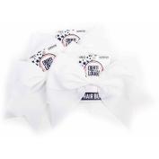 Horizon Group USA Create Out Loud White Grosgrain Hair Bow, 3pk