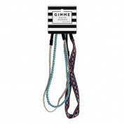 Gimme Fashion Headwraps, Teal/Gold, 3 ct