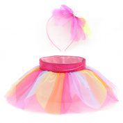 Easter Wal-mart TuTu Basket/Headband Set, Rainbow