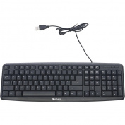 Verbatim Slimline Corded USB Keyboard, Black
