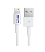 C & E [Apple MFI Certified] 8P Lightning to USB Cable 6.56-Feet (2M) for iPhone 6, 6 Plus, 5/5s/5c, iPad with Retina Display - Retail Packaging - White