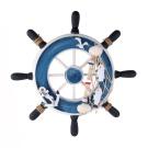 WINOMO Nautical Marine Wall Decor Wood Ship Steering Wheel