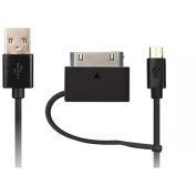 @.commicroUSB Sync Cable with microUSB-to-30-Pin Adapter