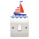 Nautical Boat Light Switch Sticker Children's Bedroom Playroom Fun Adhesive Vinyl