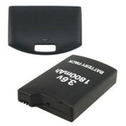 Insten 1800mAh Rechargeale Battery Pack + Back Door Cover for Sony PSP 1000 1001