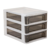 Living & Co A4 Drawer 3 Tier Black/White