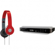 iLive Blue IKBC384S Bluetooth Under-Cabinet Music System and iLive IAH54 On-Ear Headphones