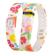 Zodaca Replacement Large Band for Fitbit Flex Wireless Activity Tracker Wristband Bracelet w/ Clasp Flower