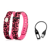 Zodaca Large Band for Fitbit Flex Wristband Bracelet with Clasp Pink Leopard