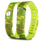 Zodaca Replacement Large Band for Fitbit Flex Wireless Activity Tracker Wristband Bracelet w/ Clasp Camo