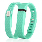 Zodaca 3D TPU Wristband Replacement Large Band Bracelet Wireless Activity Tracker Clasp for Fitbit Flex Mint Green