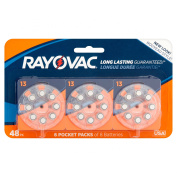 Rayovac 1.45V Hearing Aid Batteries, 48 count