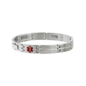 Sabona Stainless My Conditions Medical ID Bracelet-OS