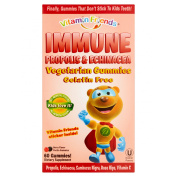 Vitamin Friends Immune Propolis & Echinacea Vegetarian Berry Flavour Pectin Gummies, 60 count