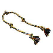 Petzone Dog Rope Pet Toy with 5 Knots 182cm